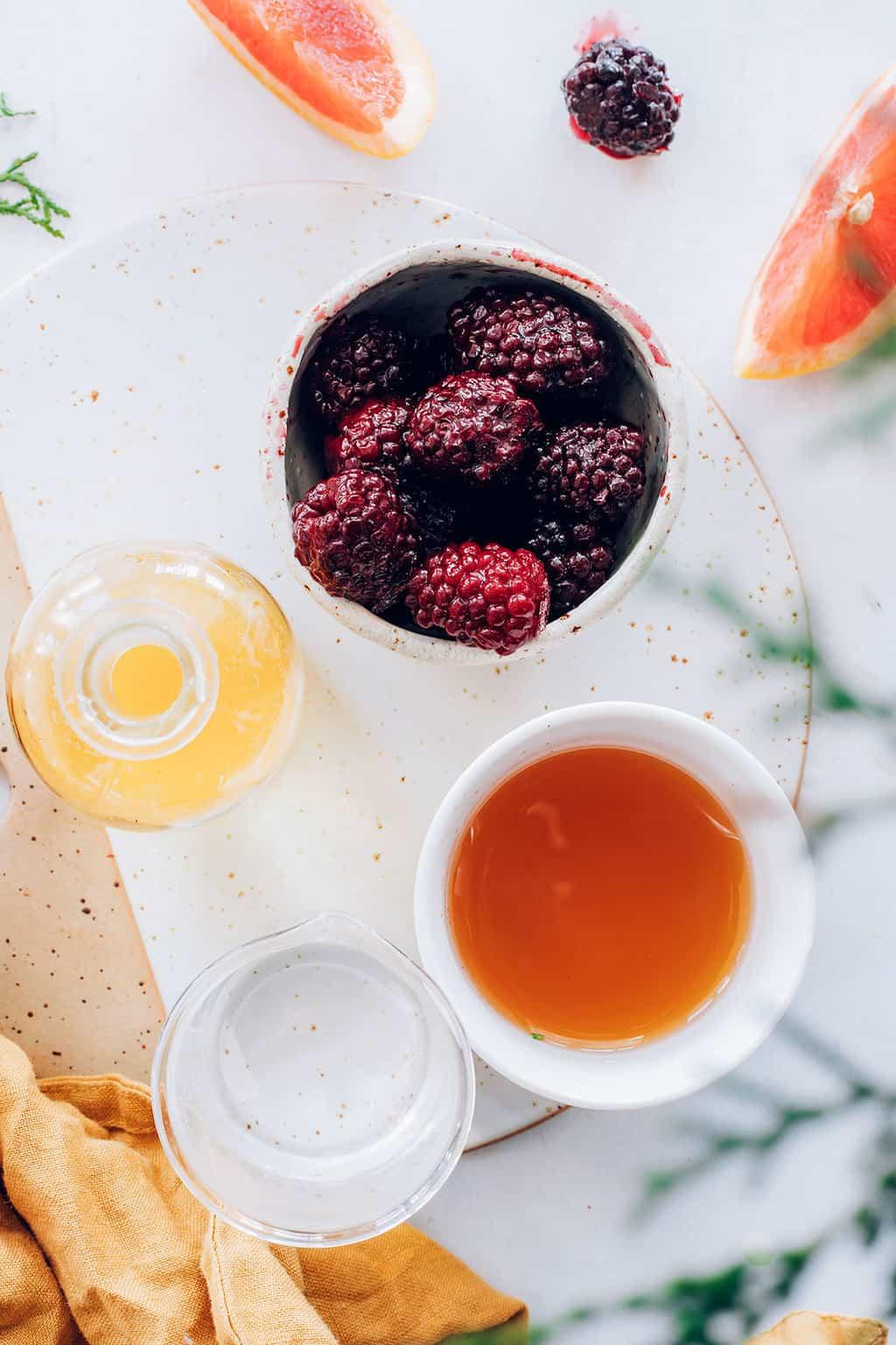 Blackberry Apple Cider Vinegar Mocktail Recipe
