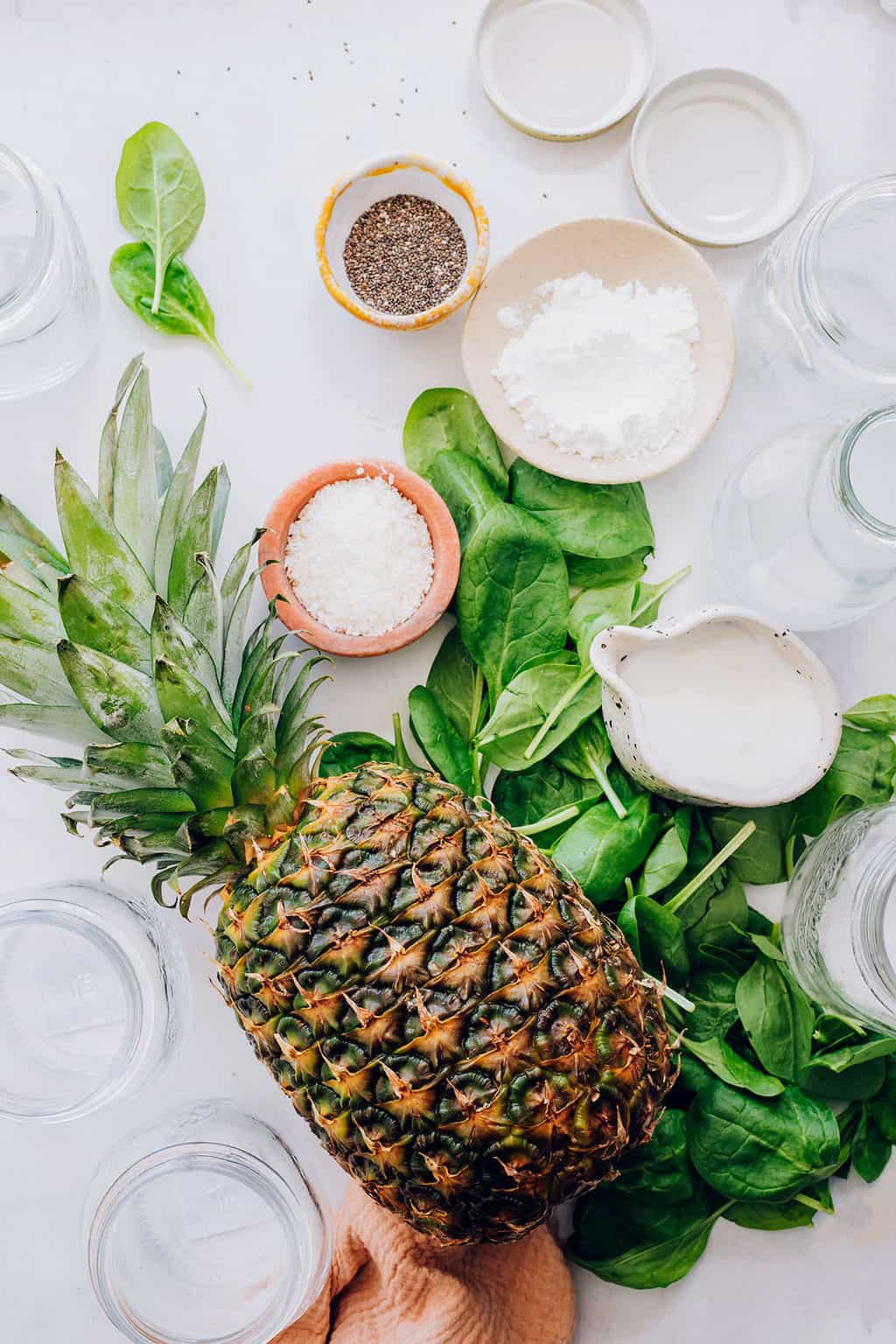 Big Batch Green Smoothie Recipe with Pineapple