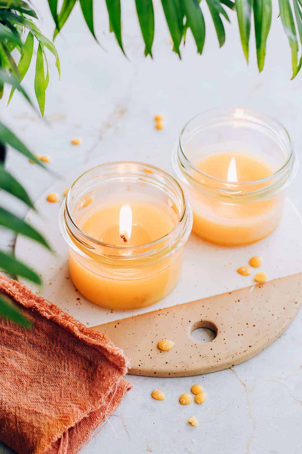 How to Make Beeswax Candles in the Oven