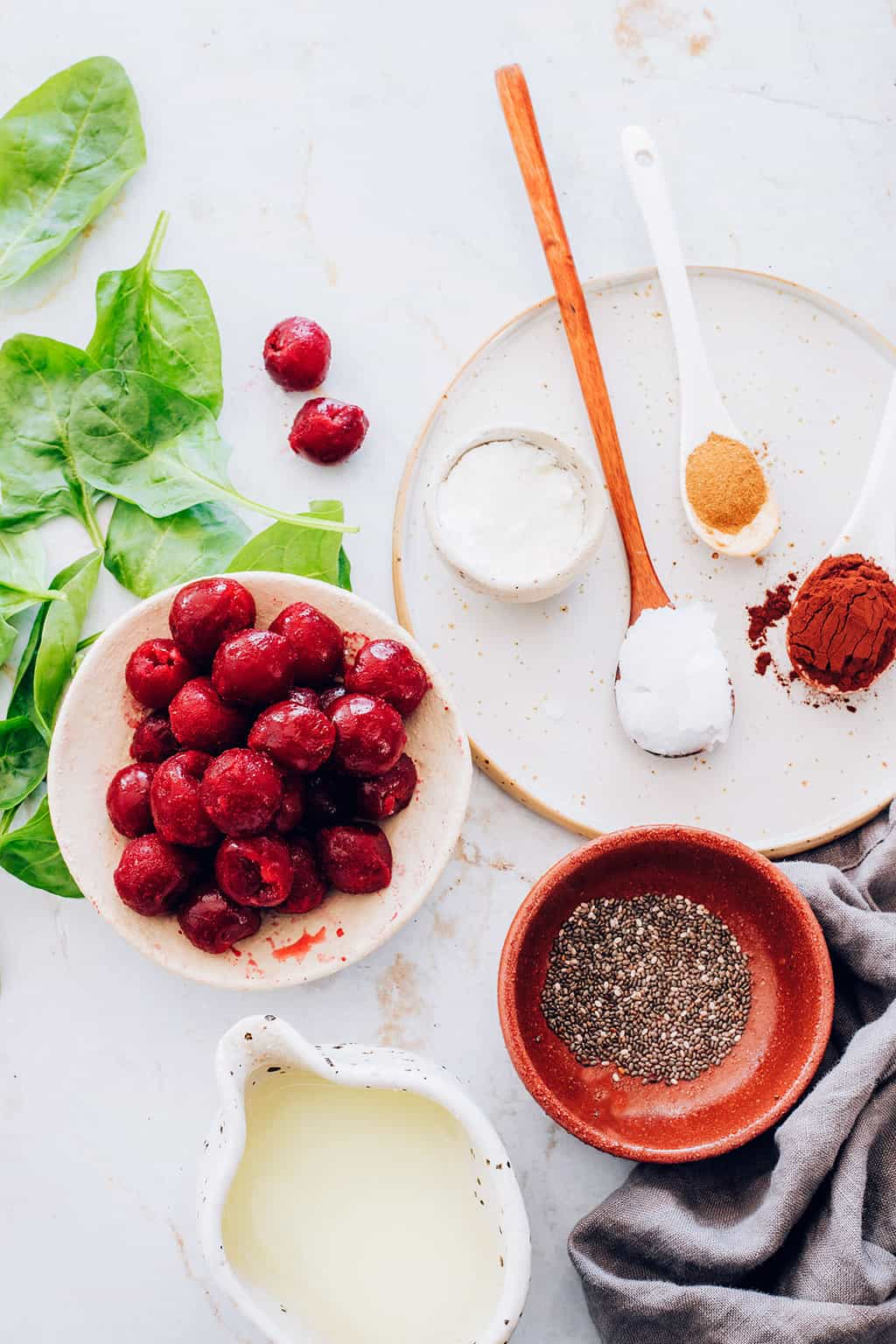 Ingredients for Cherry Collagen Smoothie