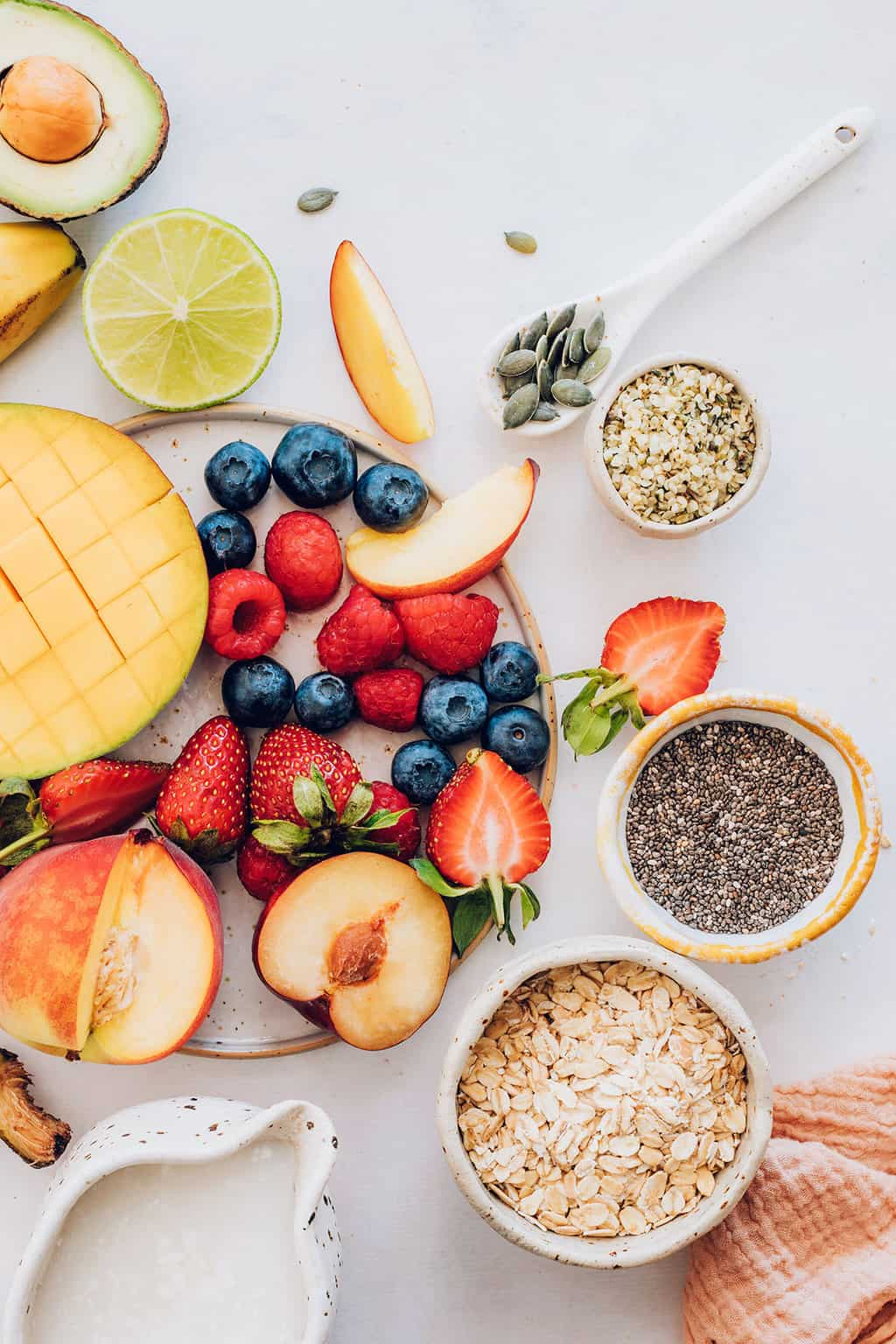 Ingredients for Summer Overnight Oat Recipes