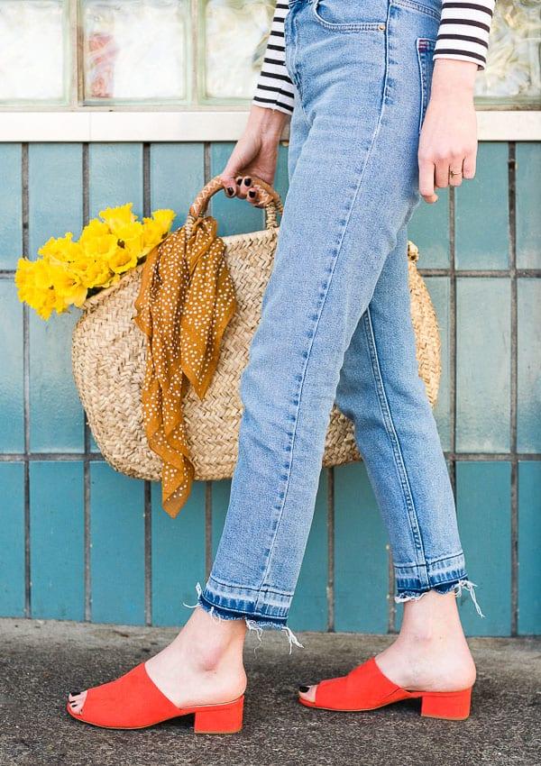 Make your own drop stitch jeans - Paper & Stitch
