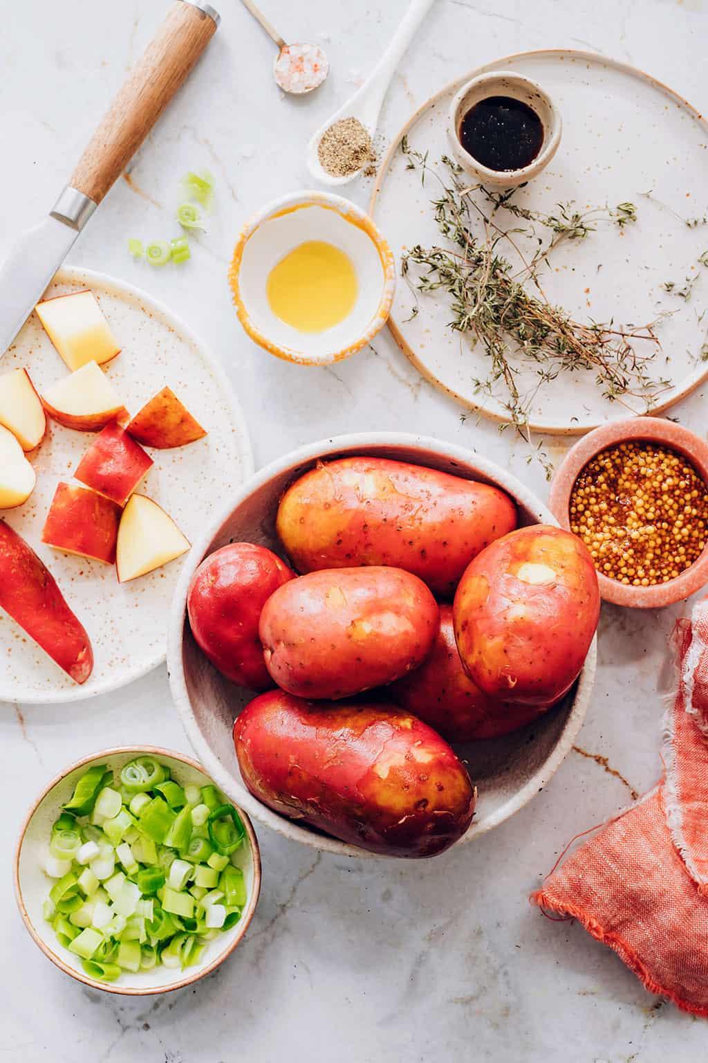 Ingredients for German Potato Salad