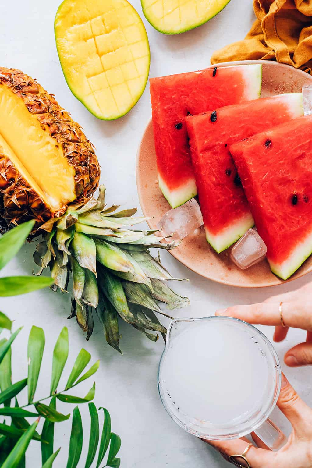 Coconut Water Smoothie Recipe with Watermelon