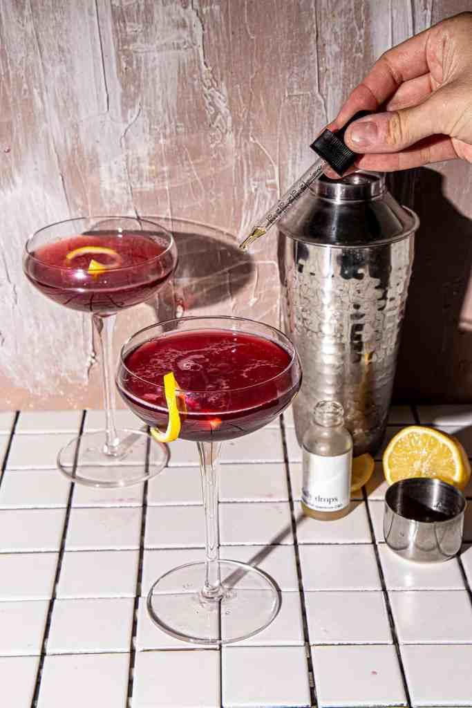 CBD Mocktail with Pomegranate