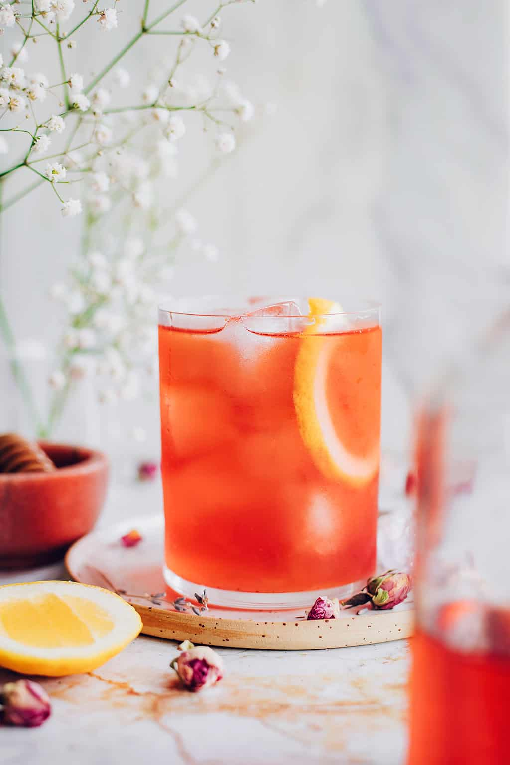 How to make sun tea with roiboos and rose