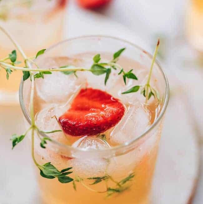 Stawberry Thyme Water Kefir Recipe
