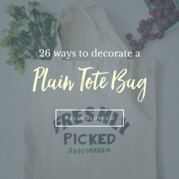 26 ways to decorate a plain tote bag - Hello Glow