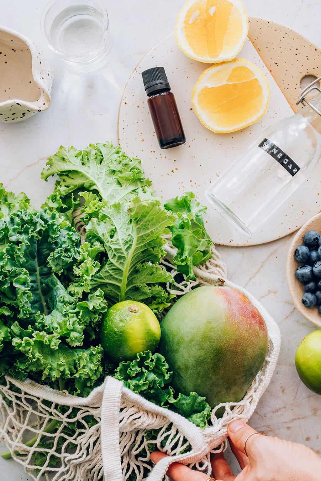 Ingredients for Fruit + Veggie Cleaning Spray