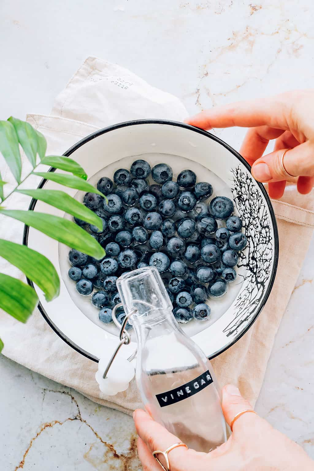 How to clean berries with a vinegar soak