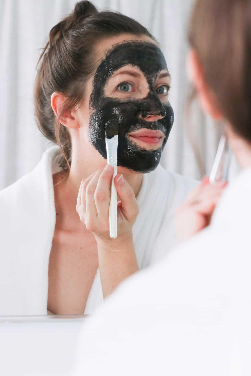 How to make a charcoal peel off mask - minus the glue!