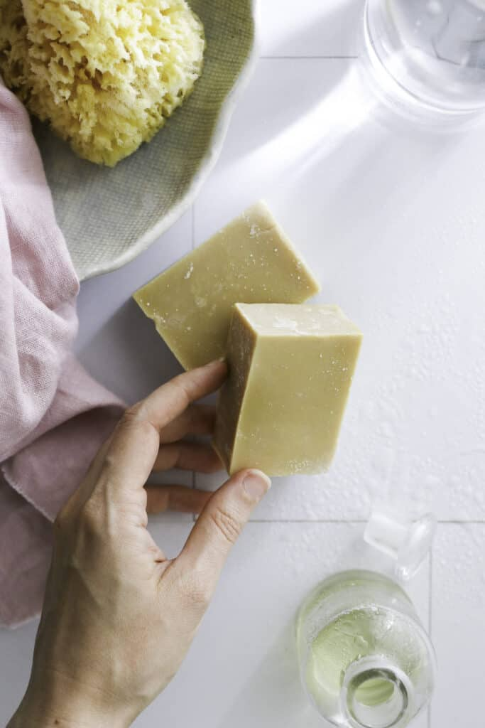 This olive oil soap is amazing at everything from moisturizing dry skin and washing your hair to spot treating laundry and washing a dirty dog