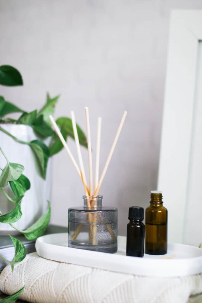 Make DIY Reed Diffusers with 5 Essential Oil Blends - Hello Glow